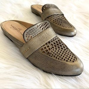 Naked Feet Thyme Pewter Mule Slide On Loafers